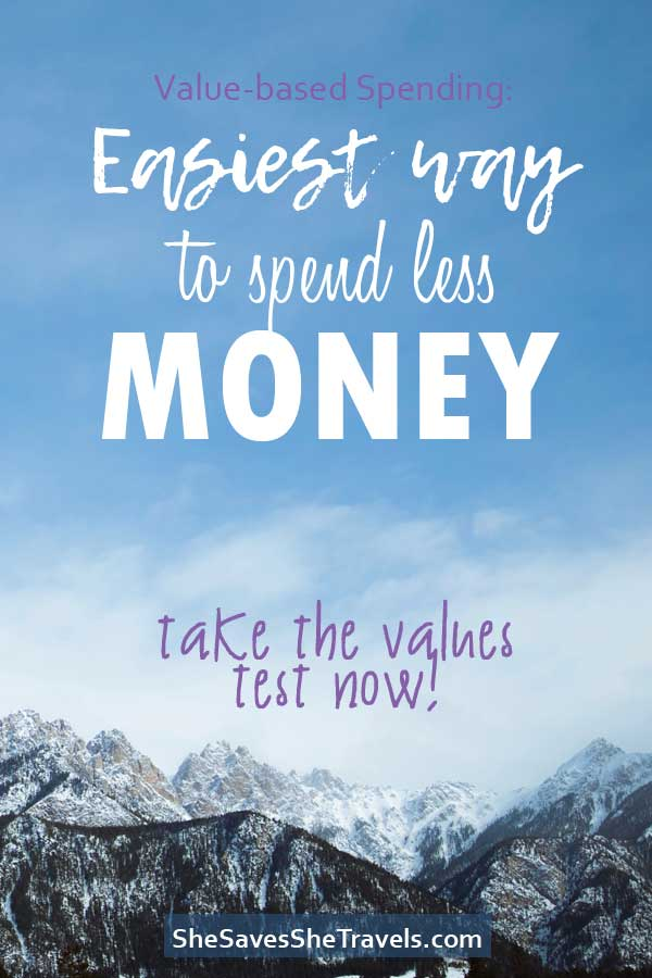 value-based spending, easiest way to spend less money
