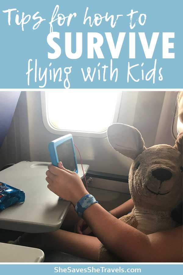tips for how to survive flying with kids for the first time