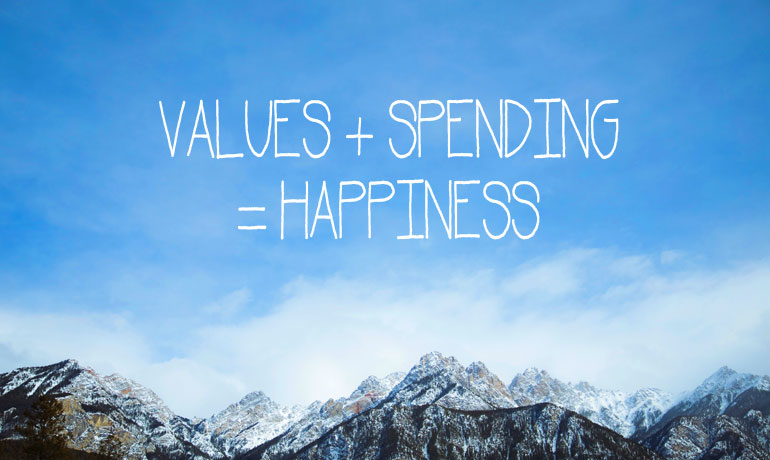 values+spending+happiness with value-based spending