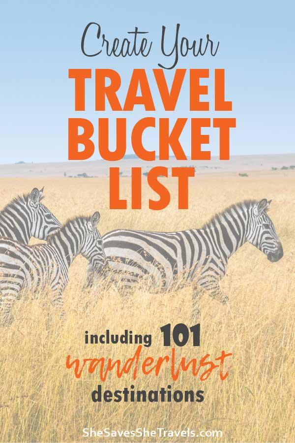 create your travel bucket list