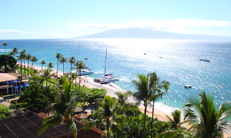 best island in hawaii maui boats on beach