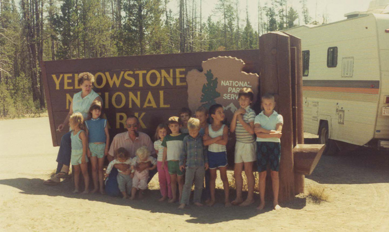 family trip to yellowstone national park