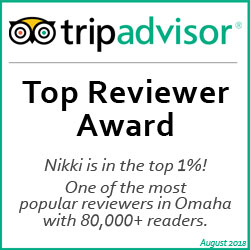 she saves she travels top reviewer award - top 1% Omaha blogger