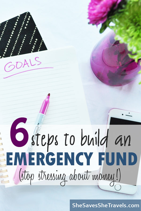 6 steps to build an emergency fund