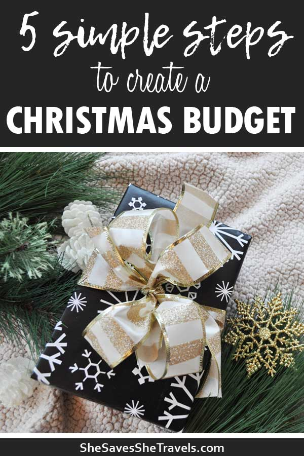 5 simple steps to create a Christmas budget