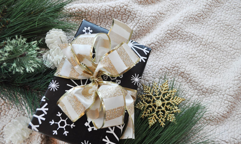 Create a Christmas budget wrapped gifts