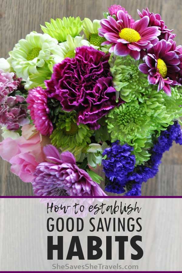 how to establish good savings habits
