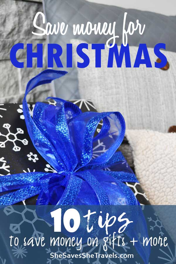 save money for Christmas 10 tips to save money on gifts