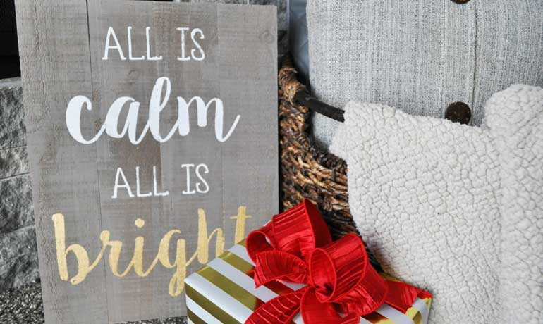 save money for Christmas - calm and bright