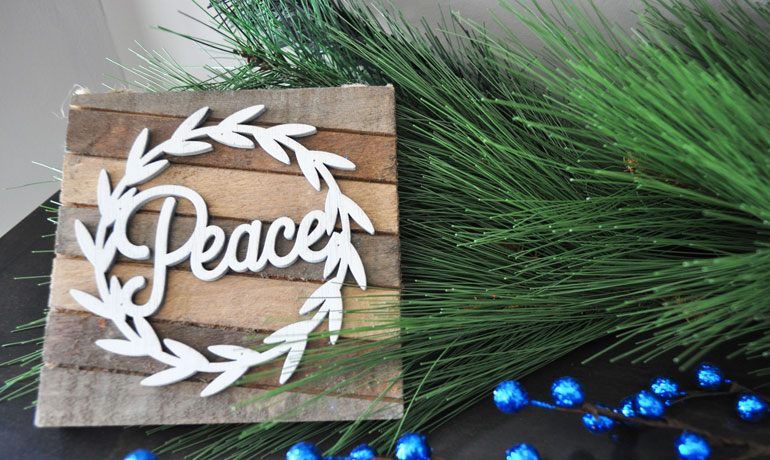 save money for Christmas - create peace