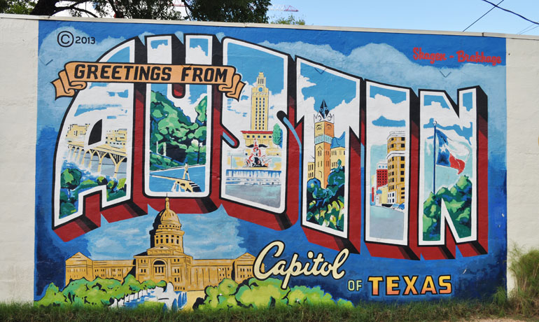 Weekend in Austin mural