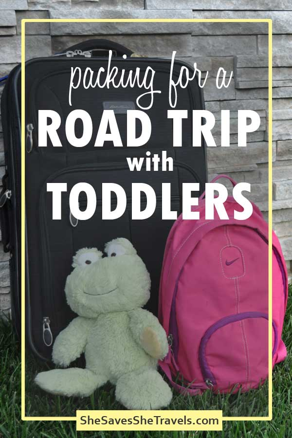 packing for a road trip with toddlers