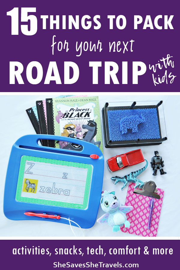 15 things to pack for your next road trip with kids