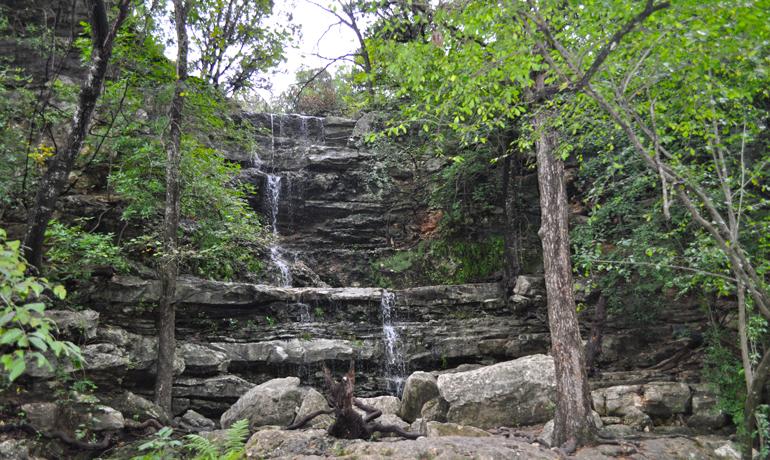 hiking in austin waterfall