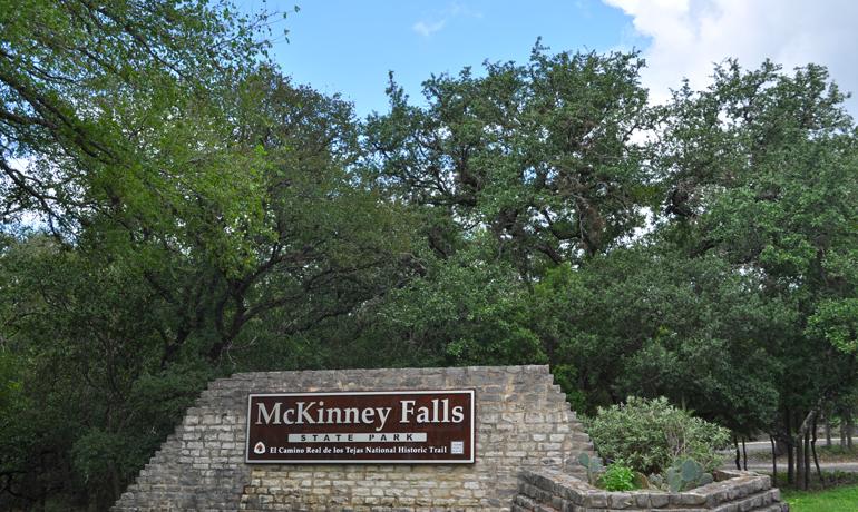 hiking McKinney Falls state park