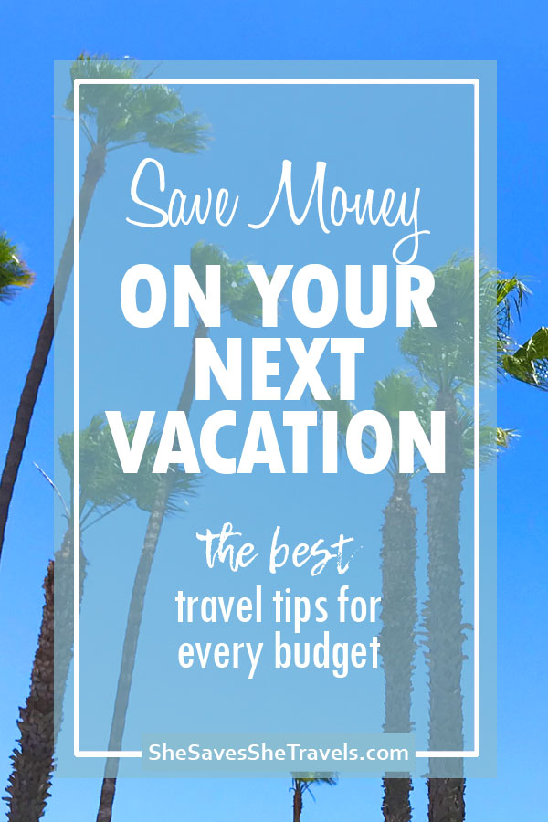 save money on your next vacation the best travel tips for every budget with a palm tree background