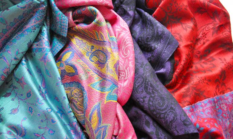 silk scarves from India