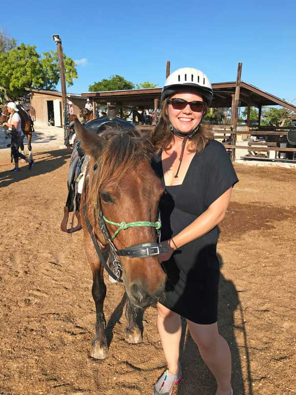 riding horses in the caribbean