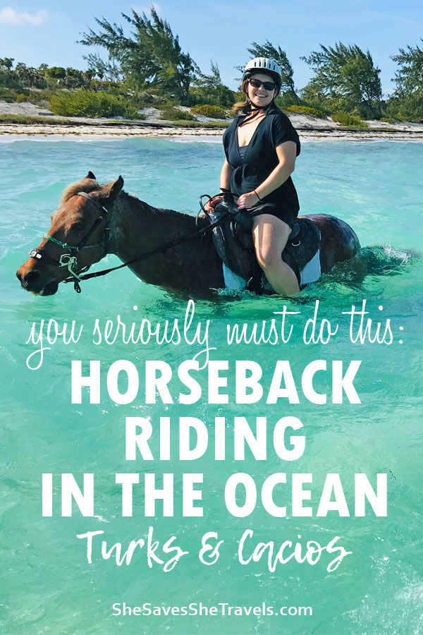 you seriously must do this: horseback riding in the ocean turks & caicos