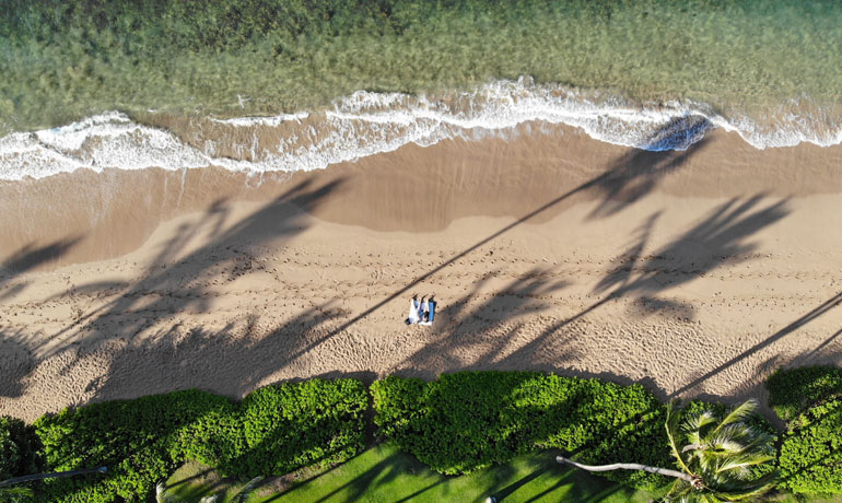 things to do in Maui on a budget drone shot looking down