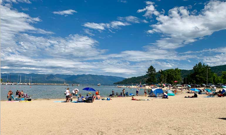 best underrated destinations beach at Sandpoint Idaho
