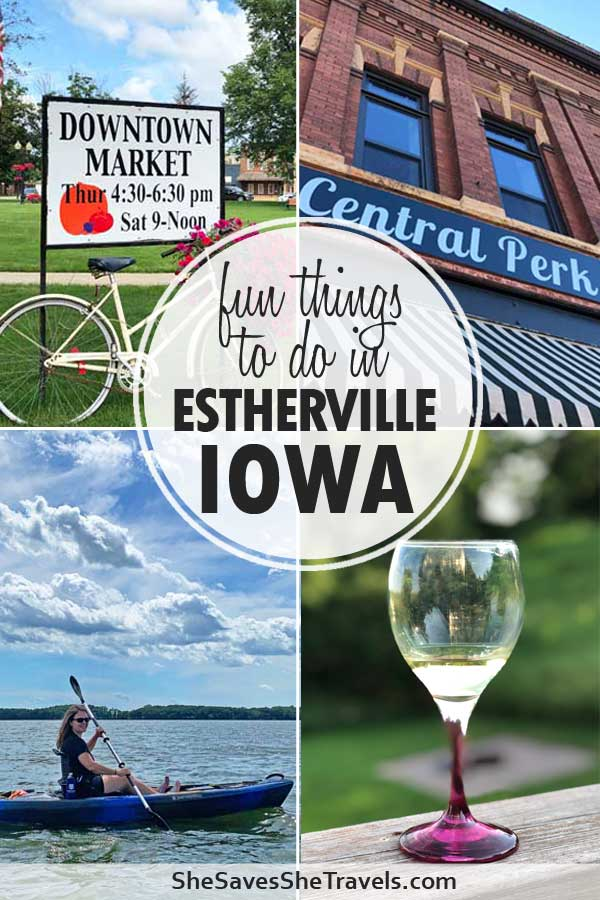 fun things to do in estherville iowa downtown market, kayaking, winery, shopping