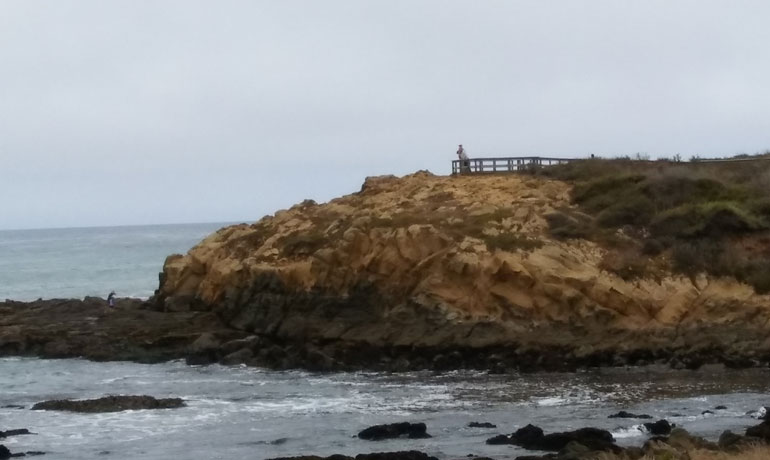 Moonstone Beach in Cambria, California, rocky coastline