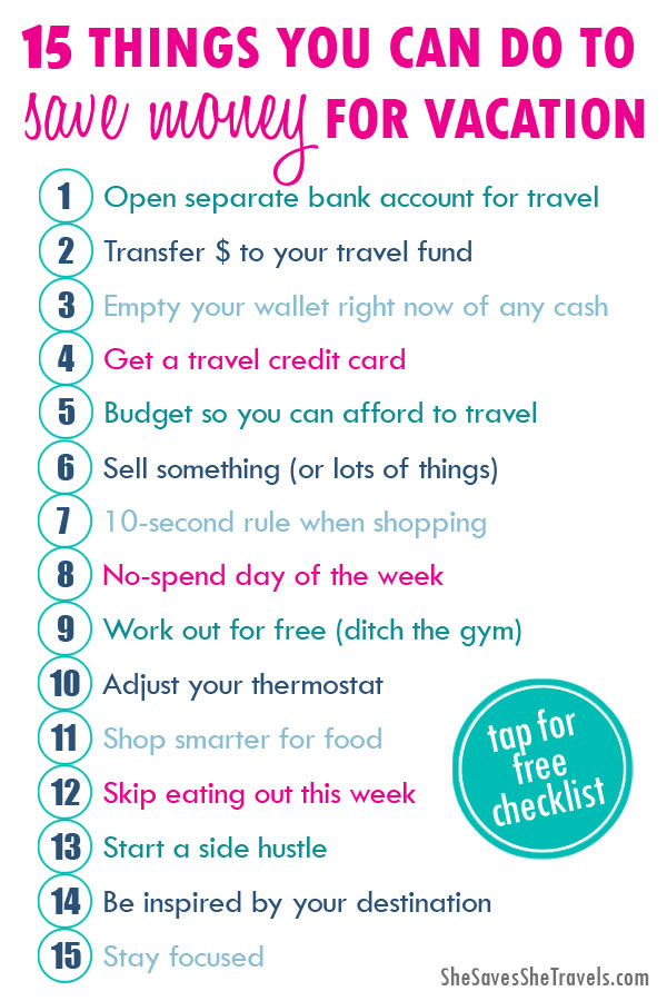 vacation savings plan 15 things you can do to save money for vacation