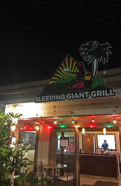 sleeping giant grill kauai exterior