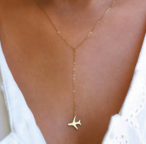 unique travel gifts airplane necklace