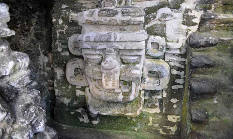 Visit Tikal - Chac god of rain mask