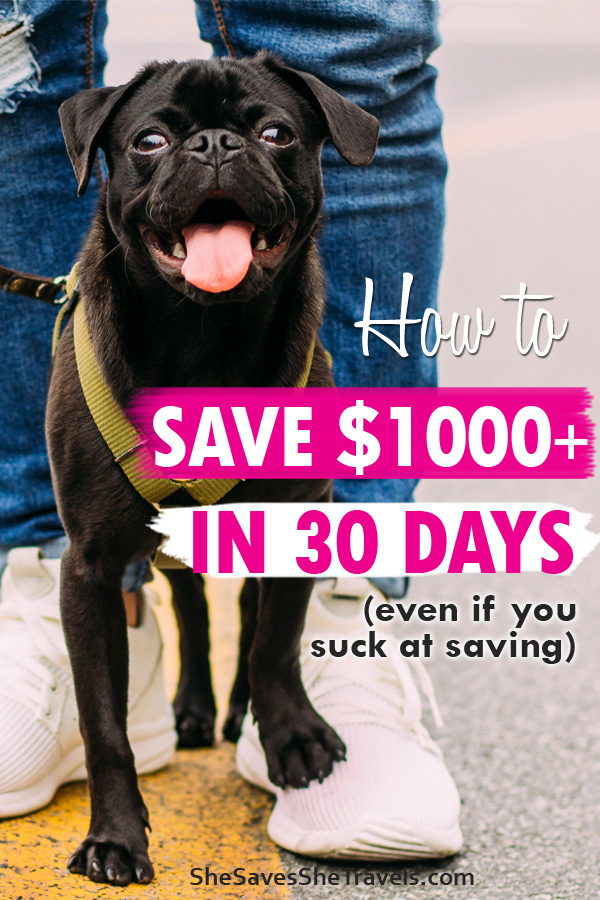 how to save 1000+ in 30 days