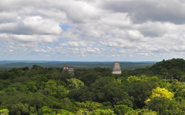 Tikal Temple 4 view