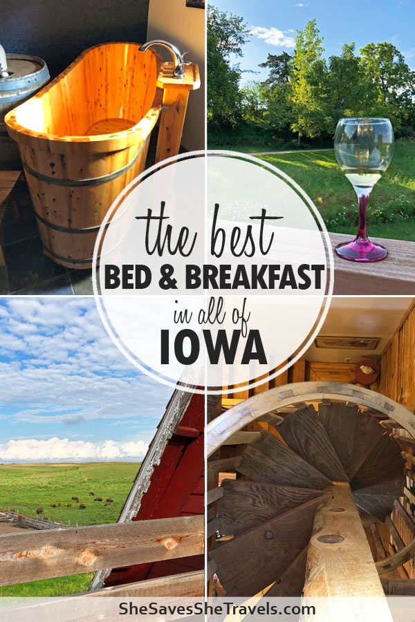 the best bed and breakfast in all of Iowa