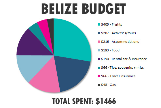 Belize budget breakdown by category - infographic
