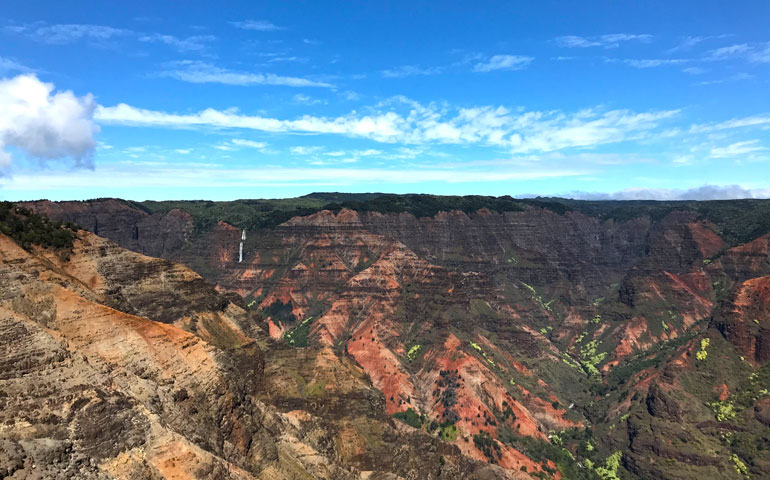 Waimea Canyon with Waipoo Falls in the distance