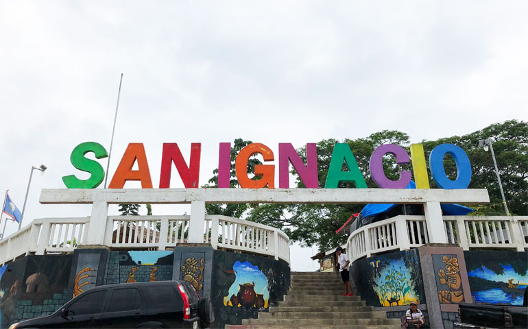 City of San Ignacio sign - it's possible to travel Belize for cheap