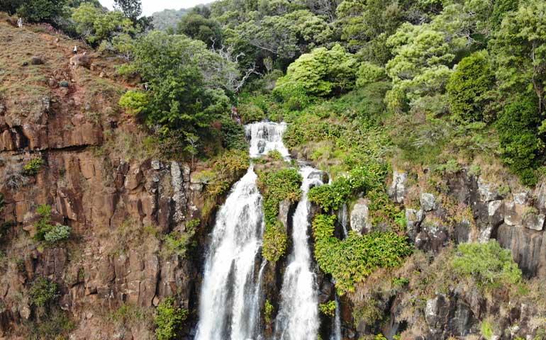 Waipoo Falls from drone