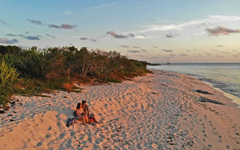 Sunset at Malcolms Road Beach Turks and Caicos