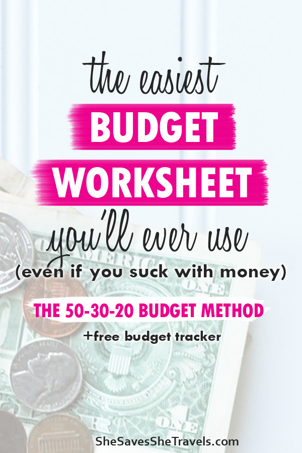 the easiest budget worksheet you'll ever use