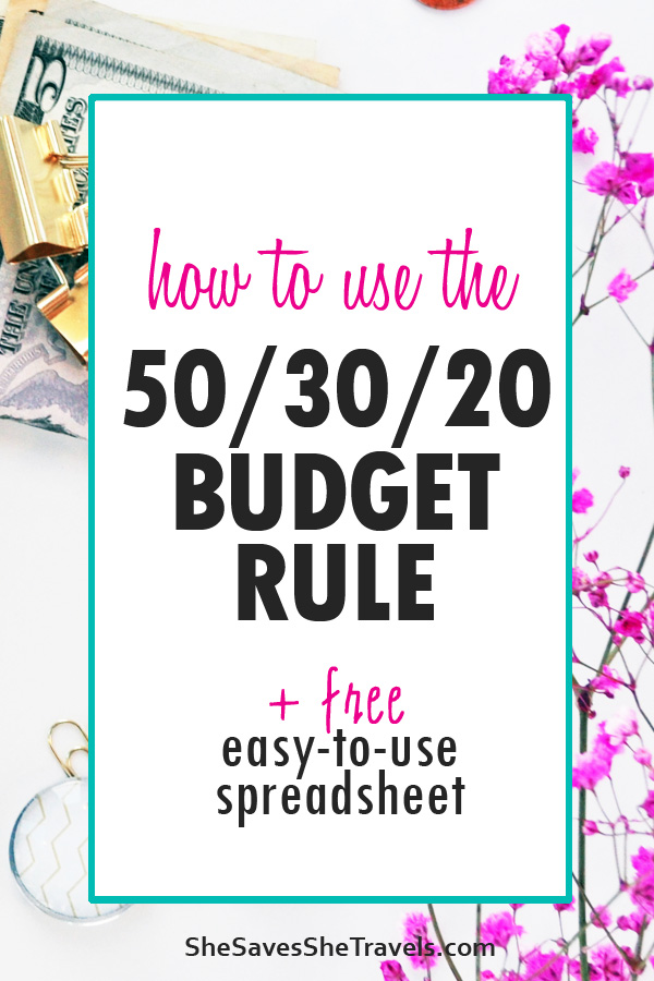how to use the 50 30 20 budget rule