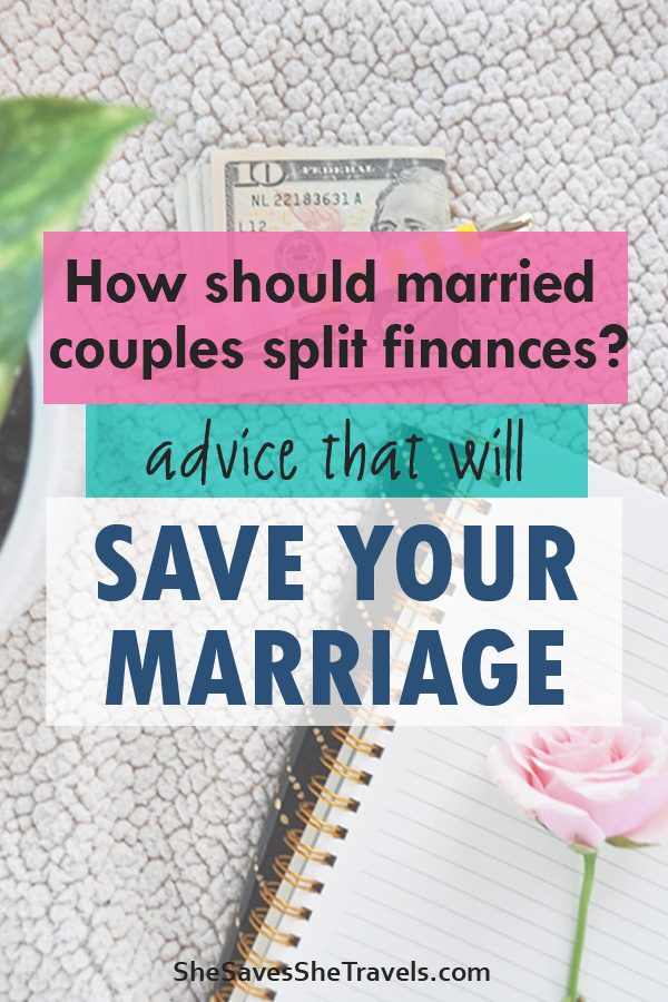 how should married couples split finances
