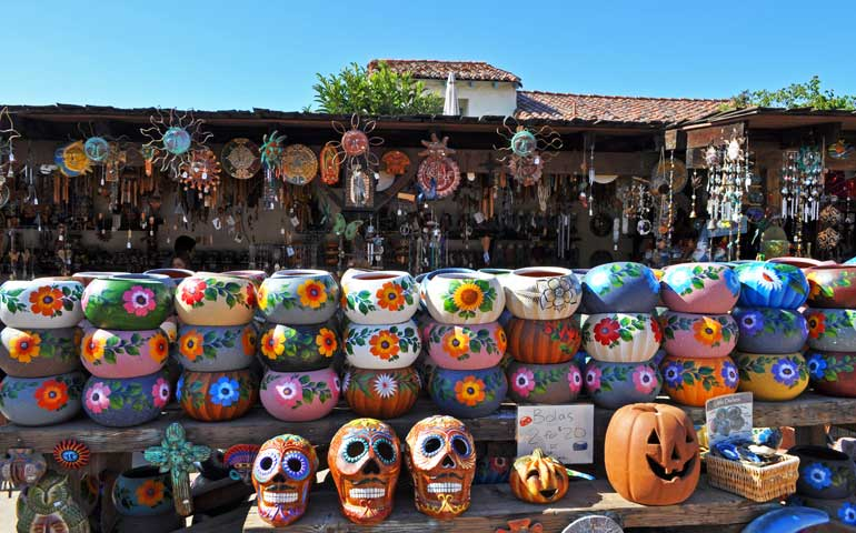 beautiful pots and artisan shopping in Old Town San Diego