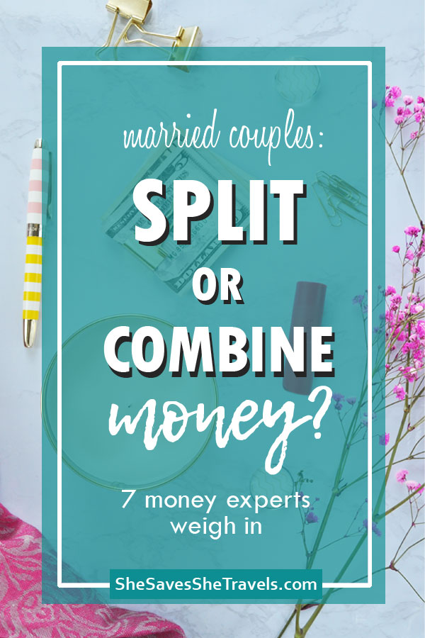 married couples split or combine money