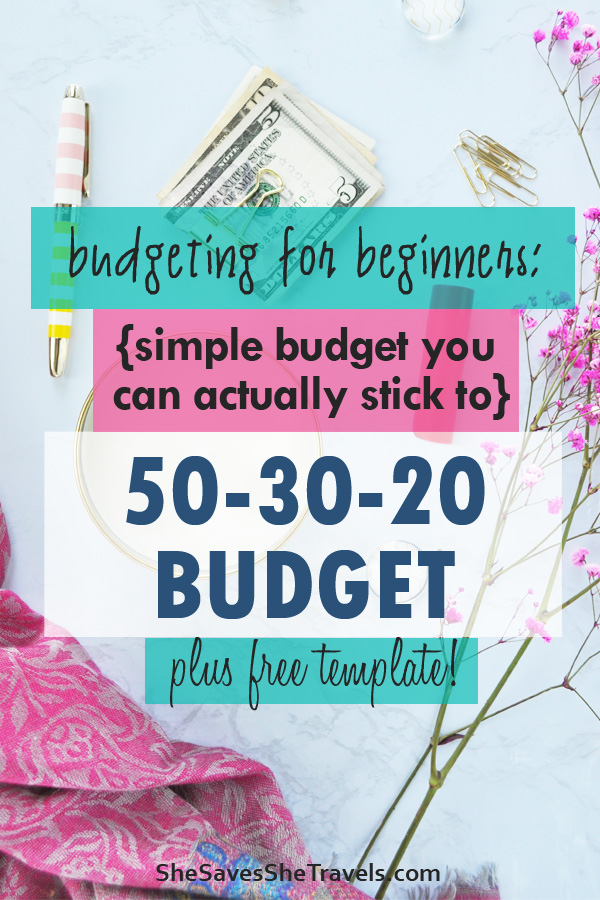 budget for beginners 50 30 20 budget rule