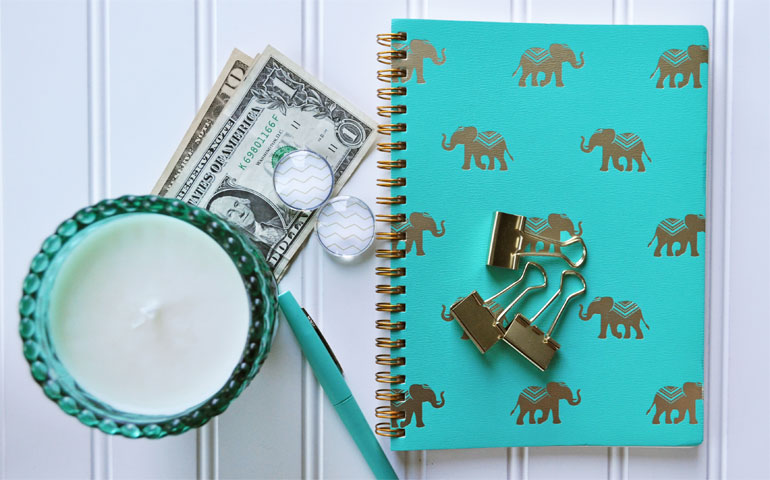 how to start budgeting money with notebook