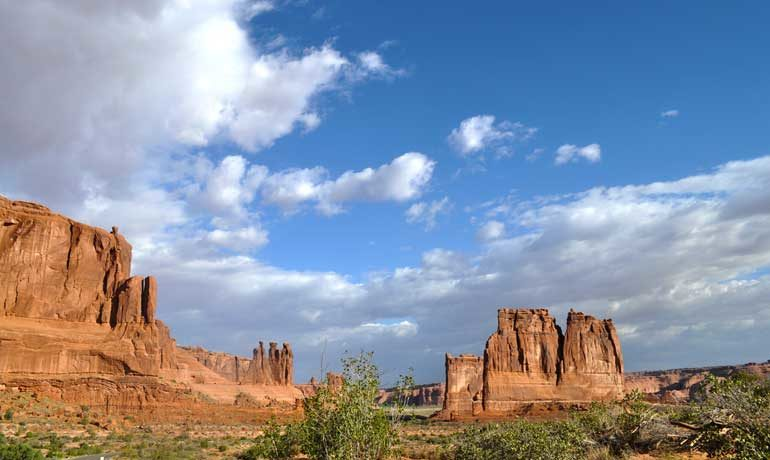 arches national park from Denver