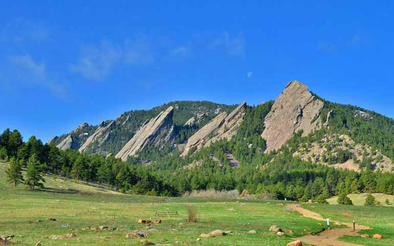 Flatirons near Boulder best places to vacation in colorado