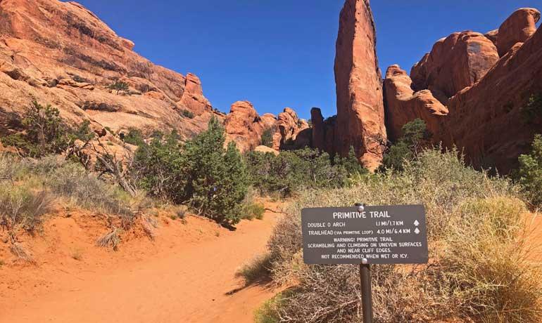 devils garden primitive trail