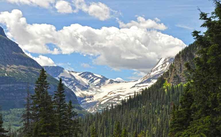 see a glacier in glacier national park